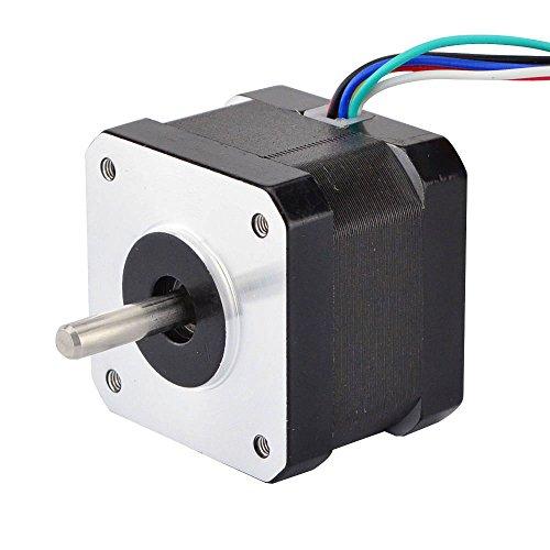 0.9deg Unipolar Nema 17 Stepper Motor 0.31A 16Ncm/22.7oz.in 42x42x34mm 6-Wires (Nema Motor Unipolar Stepper)