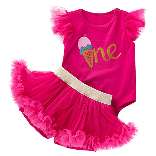 First Birthday Baby Girl Outfit one Romper Tutu