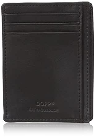 Dopp Men's Regatta Front Pocket Get-away Minamalst Slim Wallet, Black, One Size