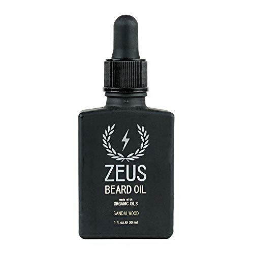 ZEUS Beard Oil made with Organic Oils – Natural Oil for Men in Gift Tin – Sandalwood
