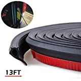 Adhesive Universal Weather Stripping Pickup Truck Bed Tailgate Seal Kit, Keep Dust, Dirt and Moisture out of your Covered Truck Bed,EPDM Rubber Foam Draught Excluder(13ft Long)
