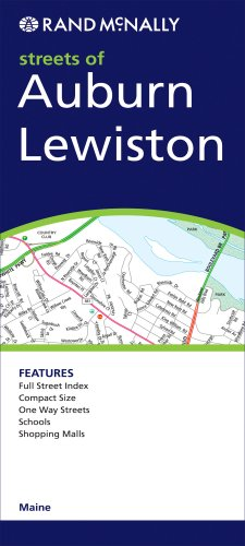 Rand McNally Streets of Auburn/Lewiston, - Ma Auburn Map