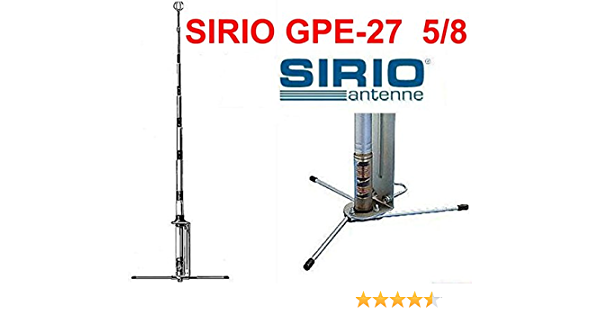 Sirio Gpe 27 5/8 Economía CB Radio 10 m Base Omni Antena Direccional