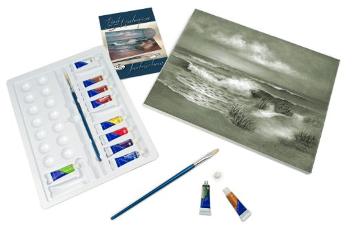 ROYAL BRUSH POM-SET6 Acrylic Paint Your Own Masterpiece-Hampton Beach (Paints Hampton)