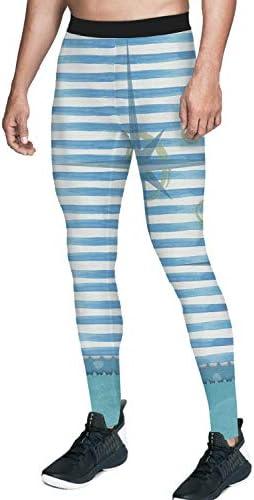 [해외]Homeinn Mens Compression Pants Running Baselayer Cool Dry Sports Tights Printed Legging / Homeinn Mens Compression Pants Running Baselayer Cool Dry Sports Tights Printed Legging