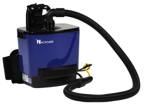 NaceCare RSV130 Back Pack Vacuum, 1.5 Gallon Capacity, 1.6HP, 114 CFM Airflow, 42' Power Cord Length by NaceCare