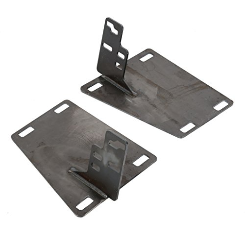 ECOTRIC 4th to 2nd gen Bumper Conversion Brackets fit Dodge Ram 1500/2500/3500 from 94-02 2nd gen Body (Electrophoresis Painted/Unpainted) (Unpainted)