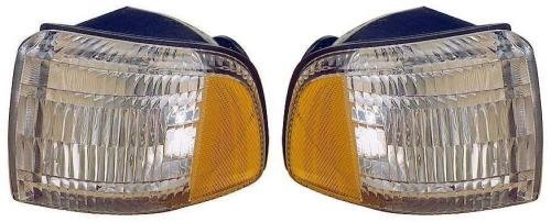 Go-Parts PAIR/SET - Compatible 1994-2002 Dodge Ram 1500 Parking Lights Assemblies/Lens Cover - Left & Right (Driver & Passenger) Side - (Laramie + ST + WS) Replacement For Dodge Ram 1500