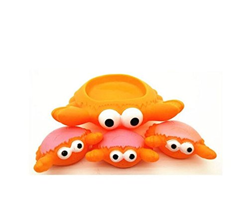 BRZM Giocattolo del Bagno del Bagno del Bagno di Granchio dei Bambini di 4 Pezzi (Arancione)