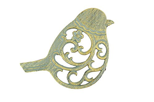 Handcrafted Nautical Decor Antique Seaworn Bronze Cast Iron Bird Trivet 8