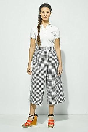 My Faldas-Falda pantalón midi con bolsillos laterales en estampado ...