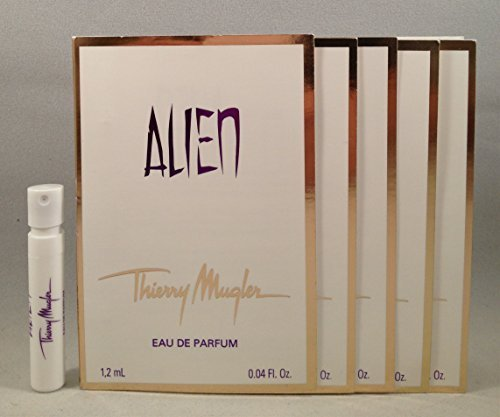 5 Thierry Mugler Alien EDP 1.2 Ml/0.04 Oz Spray Sample Vial