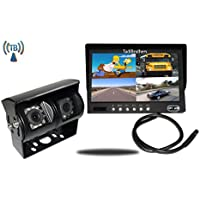 Tadibrothers 9 Inch Split Monitor and a 120 Degree CCD Wireless Double Mounted RV Backup Camera (RV Backup System)