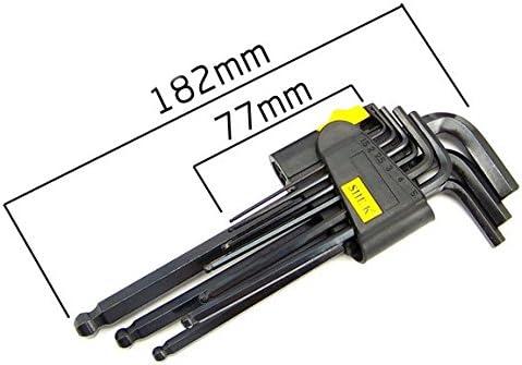 SATKIT 9 pc Juego de Llaves Largas Hexagonales Allen con Bola 1,5-10mm Coche//Moto//Bicicleta