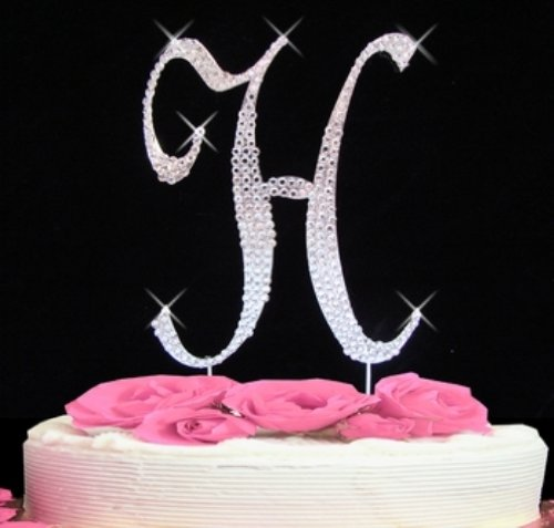Rhinestone Cake Topper Letter H by Other