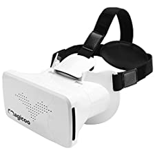 IFB Magicoo VR Headset, Adjustable Virtual Reality Goggles 3D Viewing Speaker Parts Mobile Accessories Handles for Audio Video Movies Games, Compatible with 3.5