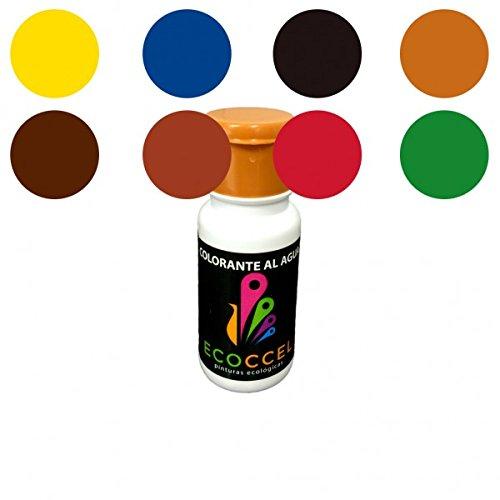 Tinte, tinte al agua, colorante, colorante ecoló gico, tinte ecoló gico, mejor colorante para pinturas con base de agua, colorante pintura pared, colorante pintura, TINTES PACK ECOCCEL, 8 de 0,05 Lt (0,05 lt) colorante ecológico