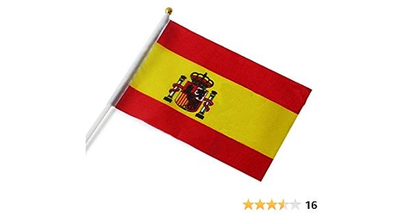 Nikgic Mini Bandera de España, 14cm*21cm, de País de España, Español, Copa Mundial: Amazon.es: Hogar