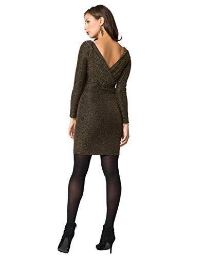 Sparkle V-Back Cocktail Dress,S,Black/Gold (Chateau Cocktail)
