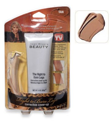 Joan Rivers Beauty-The Right to Bare Legs Corrective Cover Up- Tan ()