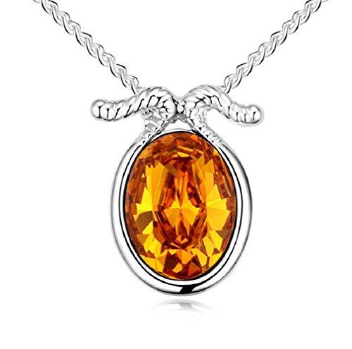 Goddess Costume Tutorial (Yuriao Jewelry Elegant Fashion 18k Constellation Capricornus Crystal Pendant Necklace£¨gold£)