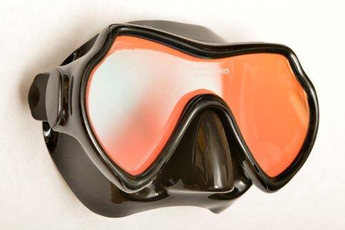 SeaDive Oceanways Superview-HD w/Anti-UV/Glare Optical Multicoating w/Anti-Fog Scuba/Spearfishing Dive Mask (OM940BKSFF) by SeaDive