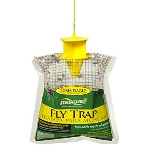 RESCUE! FTD Non-Toxic Disposable Fly Trap VCBN (Pack of 4)