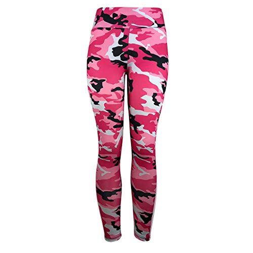 (Zcxaa Soft Women Sport Pants Full Length Pants Print Workout Clothes Yoga Athletic Pants Push up Fashion(Pink,S))