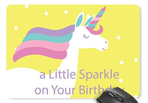 Price comparison product image Mouse Mat Unicorn / Unicorn Castle Background Print Mouse Pad
