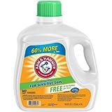 Arm & Hammer Liquid Laundry Detergent for Sensitive Skin, 107 loads, 160.5 fl oz