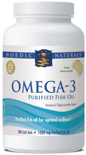 Nordic Naturals Omega-3 Formule, 1000mg 180-Count (citron)