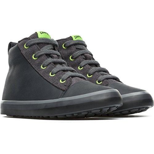 Camper Kids Pursuit High-Top Fashion Sneaker, Grey, 31 EU(13 M US Little