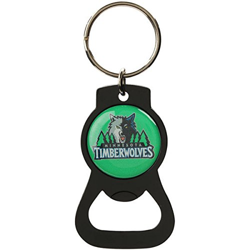 aminco NBA Minnesota Timberwolves NBA-BK-702-19-BK Bottle Opener Key Ring, One Size, Multicolor by aminco