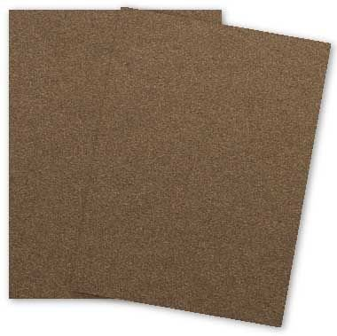Metallic 8.5X11 Card Stock Paper - BRONZE - 105lb Cover (284gsm) - 25 PK (Bronze Metallic Cover)