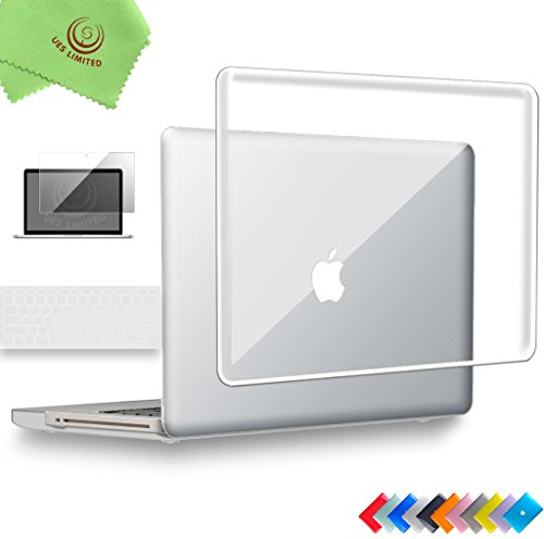 Briefcase Notebook Edge (UESWILL 3in1 Glossy Crystal Hard Shell Case Cover for MacBook Pro 15