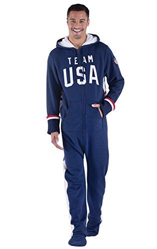 6f547583c033 Jual PajamaGram Team USA Hooded Onesie Footed Pajamas for Men