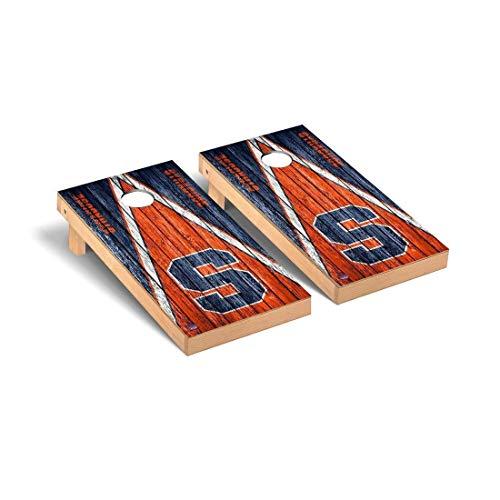 Victory Tailgate Syracuse Orange Regulation Cornhole Game Set Triangle Weathered Version