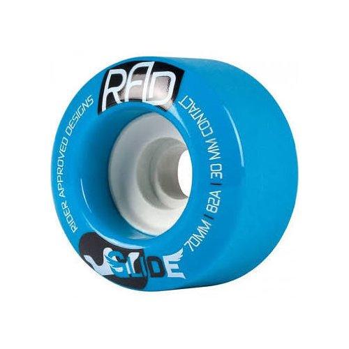 愛国的なチャネル炭水化物RAD Glide 70mm 82a Blue Longboard Skateboard Wheels Set of 4 by Rad.