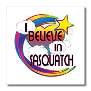 ht_166845_3 Dooni Designs - Believe In Dreamy Belief Designs - I Believe In Sasquatch Cute Believer Design - Iron on Heat Transfers - 10x10 Iron on Heat Transfer for White Material