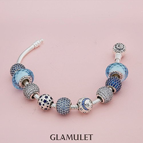 Glamulet 925 Sterling Sliver Lucky Birthstone Paved