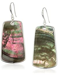 Large Sculptural Shell Rectangle Drop Earrings