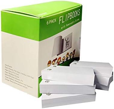Flipbook Paper Animatie papier met verwijderbare schroeven 1080 paginas 45 x 25 Inch Flip Book Papier Schetsen benodigdheden Werkt met Flip Book Kit Light Pads Tekening Creatief voor kinderen Novsix