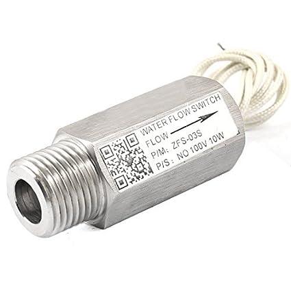 eDealMax Sensor de flujo de agua 1 / 2PT rosca Macho de Acero inoxidable Interruptor 100V