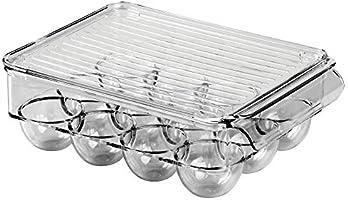 mDesign Caja para huevos de plástico para la nevera - Envase para ...
