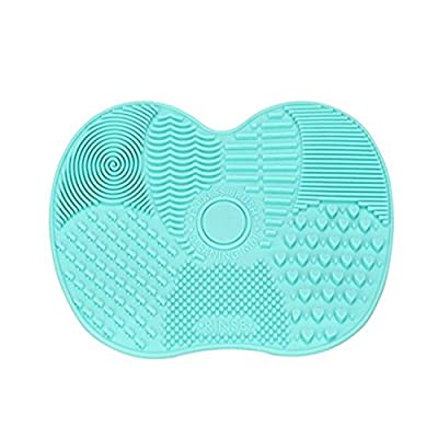 LYNN Silicone Makeup Brush Cleaning Mat, Makeup Brush Cleaner,Makeup Brush Cleaner Pad,Cosmetic Brush Cleaning Mat Portable Washing Tool Scrubber with Suction Cup