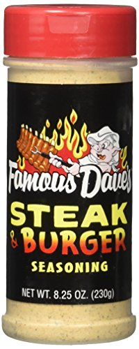 Famous Dave's Steak Burger Seasoning - 8.25 Ounce Shaker (Single)