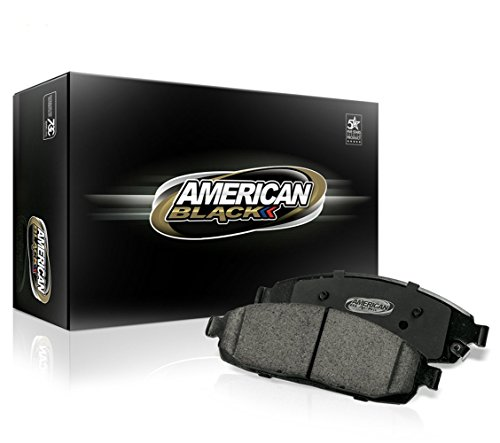 American Black ABD914C Professional Ceramic Front Disc Brake Pad Set Compatible With Accord LX 11-17 Honda Civic 16-17 EX 13-15 Si 12-15 & Others - OE Premium Quality - Perfect fit, QUIET & DUST FREE