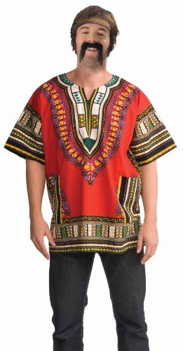 Forum Novelties Men's Dashiki Costume Shirt, Red, Standard