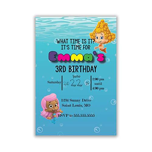 The Melange Market Customized Bubble Guppies Birthday Invitation -