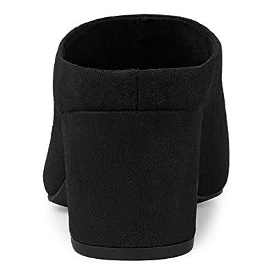 Amazon.com | Allegra K Women's Pointed Toe Slip on Block Heel Slide Mules | Mules & Clogs